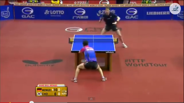 German Open 2014 Highlights: Steffen Mengel Vs Cho Eonrae (Quarter Final) 卓球動画