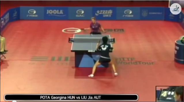 Hungarian Open 2014 Highlights: Liu Jia vs Georgina Pota (Final) 卓球動画