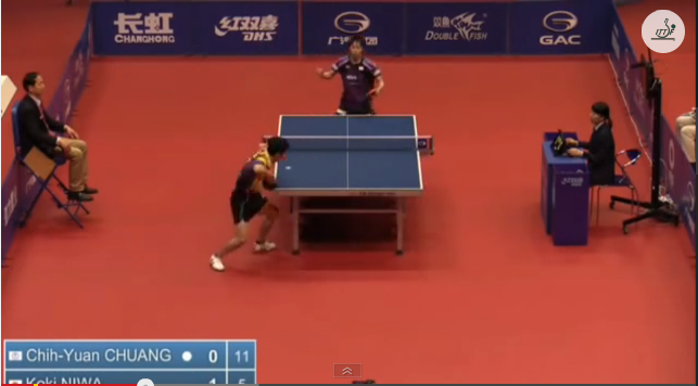China Open 2014 Highlights: 丹羽孝希 Vs Chuang Chih Yuan (Round Of 16) 卓球動画