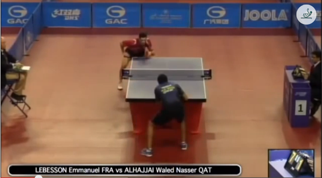 Qatar Open 2014 Highlights: Emmanuel Lebesson vs Waled Nassar Alhajjai 卓球動画