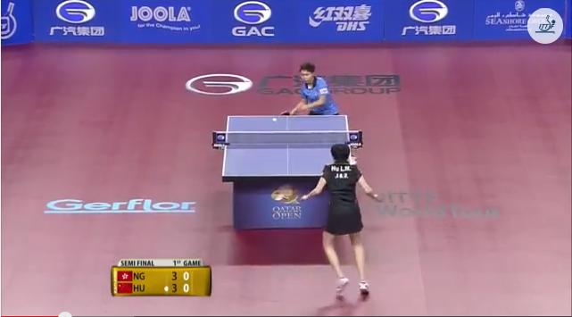 Qatar Open 2014 Highlights: Hu Limei vs NG Wing Nam (1/2 Final) 卓球動画