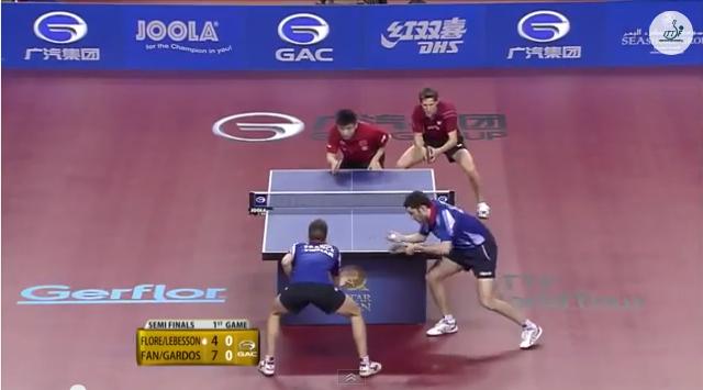 Qatar Open 2014 Highlights: 樊振東/Robert Gardos vs Tristan Flore/Emmanuel L. (1/2 Final) 卓球動画
