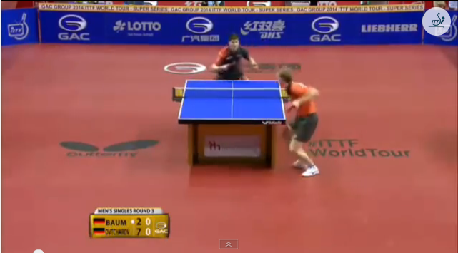 German Open 2014 Highlights: Dimitrij Ovtcharov vs Patrick Baum (Round Of 16) 卓球動画