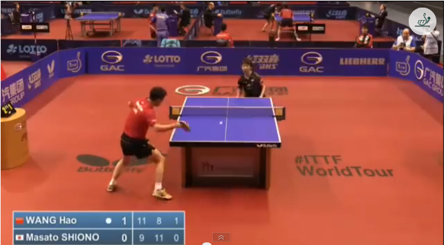 German Open 2014 Highlights: 王皓 vs 塩野真人 (Round Of 32) 卓球動画