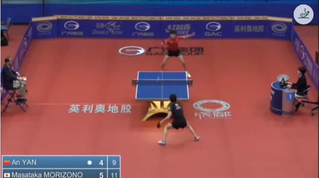 China Open 2014 Highlights: Yan An Vs 森薗政崇 (Round Of 32) 卓球動画