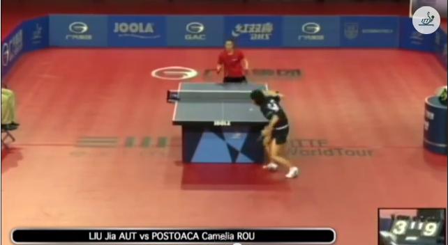 Hungarian Open 2014 Highlights: Liu Jia vs Camelia Postoaca (1/2 Final) 卓球動画