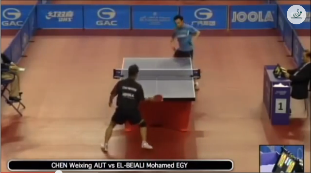 Qatar Open 2014 Highlights: Chen Weixing vs Mohamed El Beiali 卓球動画