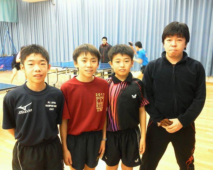 2020年の東京オリッピック(卓球代表)を目指す子供