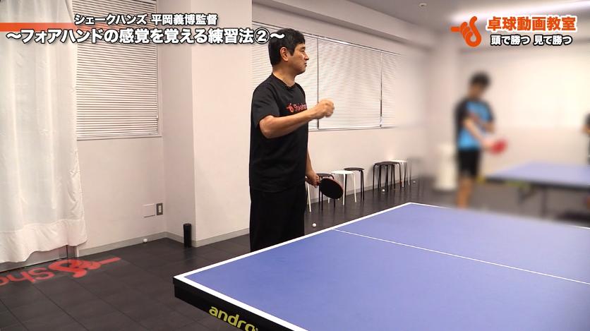フォアハンドの振り方の練習方法。肘膝は使わずに! by 平岡義博