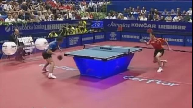 2007年世界卓球選手権ザグレブ大会・男子シングルス決勝 馬琳 vs 王励勤