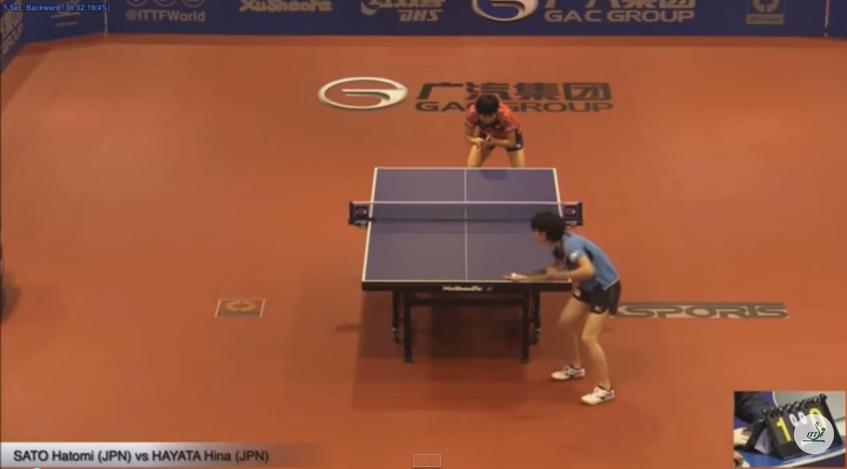 2015オーストラリアオープン・女子シングルスU-21決勝 佐藤瞳 vs 早田ひな