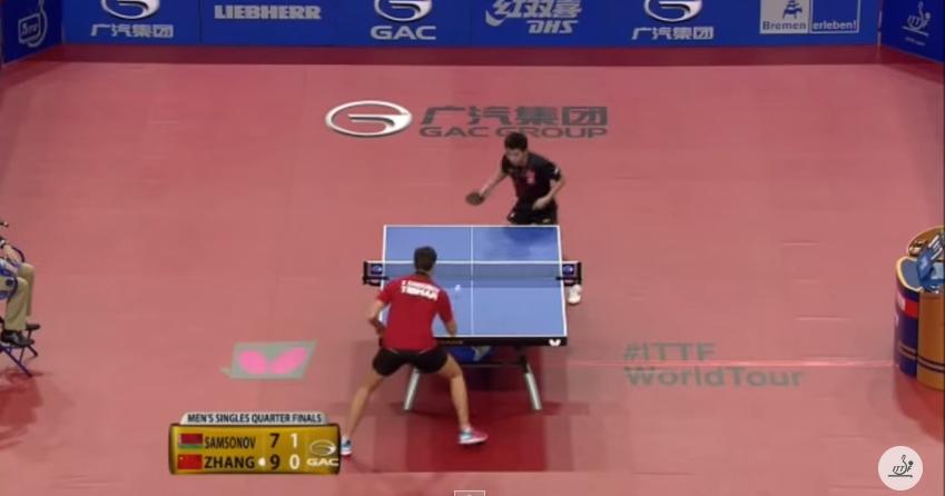 2015年ドイツオープン男子シングルス準々決勝 サムソノフ vs 張継科
