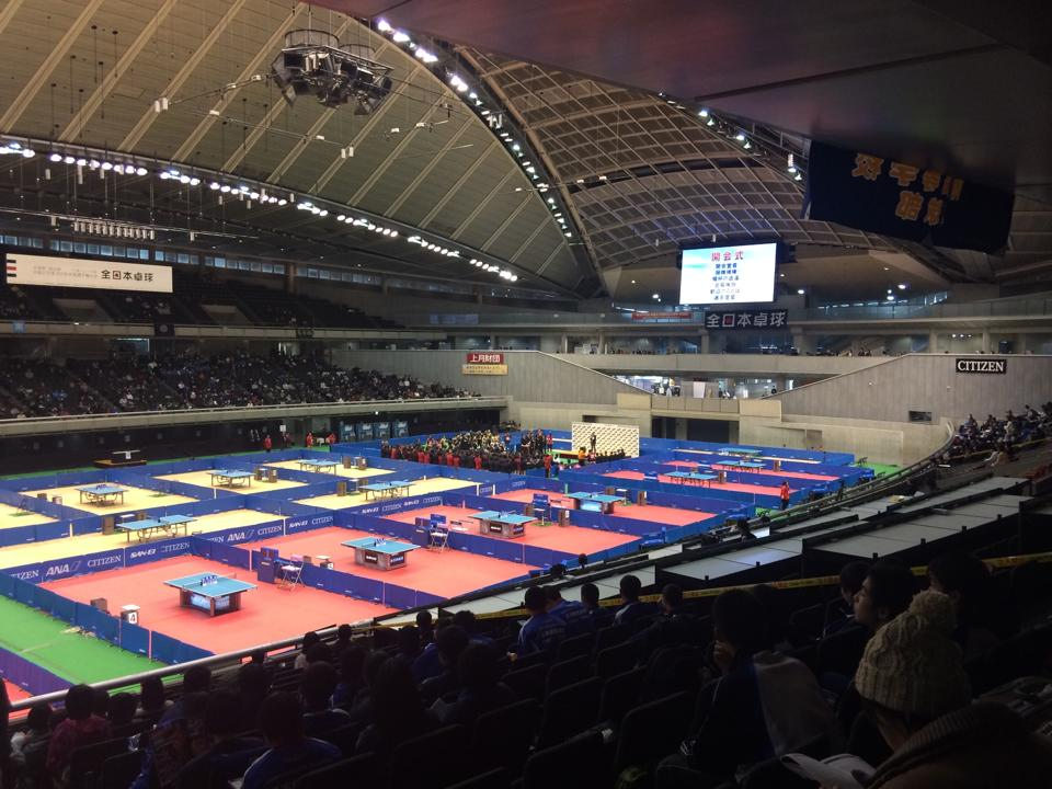全日本選手権大会の開会式が始まりました。