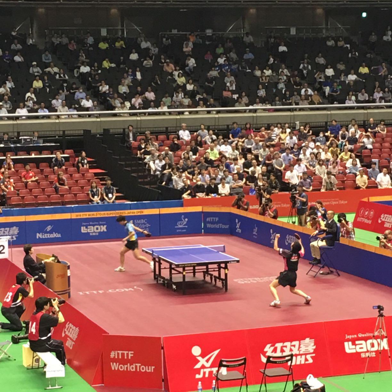 張本選手おめでとう! 3日目終了 2016 ITTFワールドツアー・ジャパンオープン