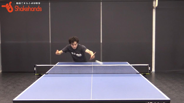 チキータ!ポイントはボールを捉える瞬間のラケット角度と姿勢!by森薗政崇