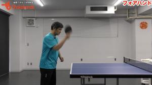 基本のフォアハンド。このスイングで安定したボールが打てる!by平岡義博