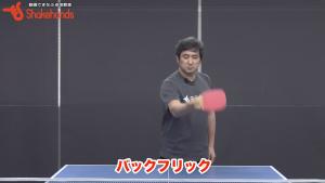 日ペンのバック、ショート打ち。まずバックフリックから練習! by 平岡義博