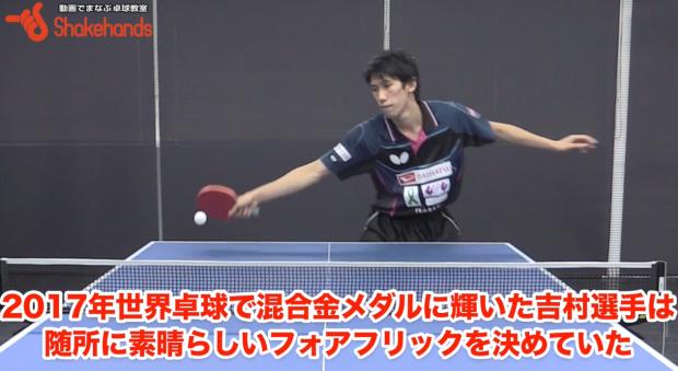 世界選手権の吉村真晴のフォア前フリック。シングルスでも使える_表紙