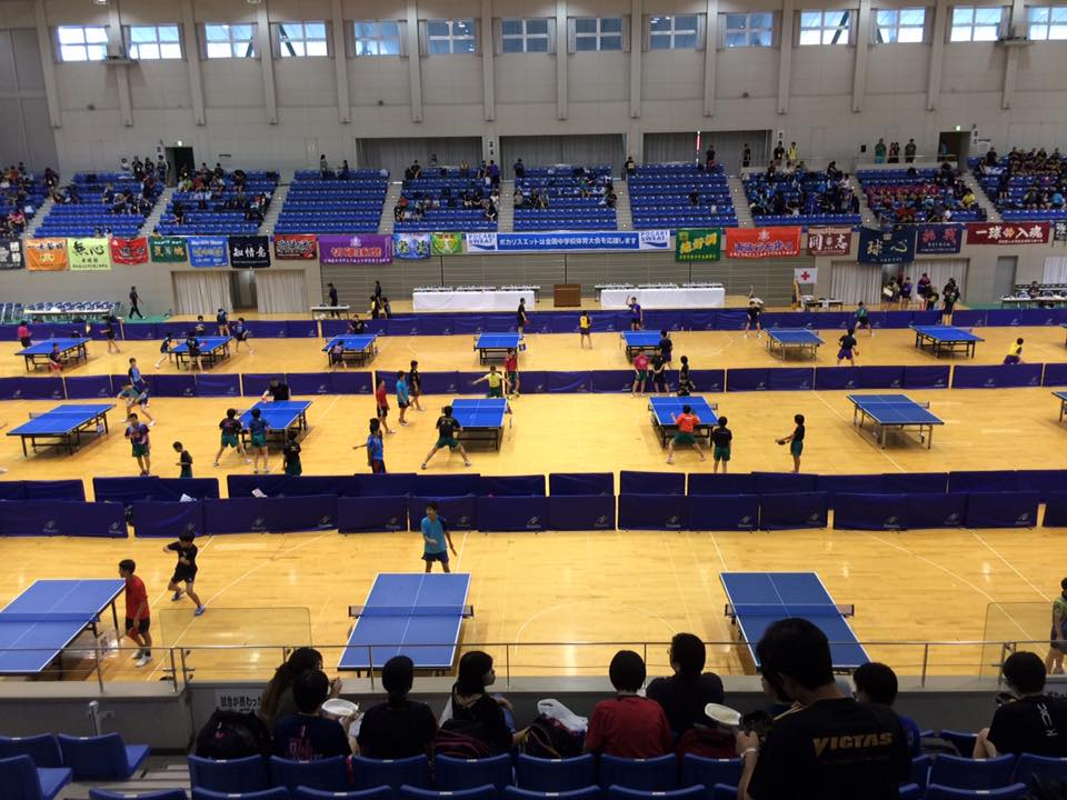 夏の全国大会の締めは【全国中学校卓球大会】