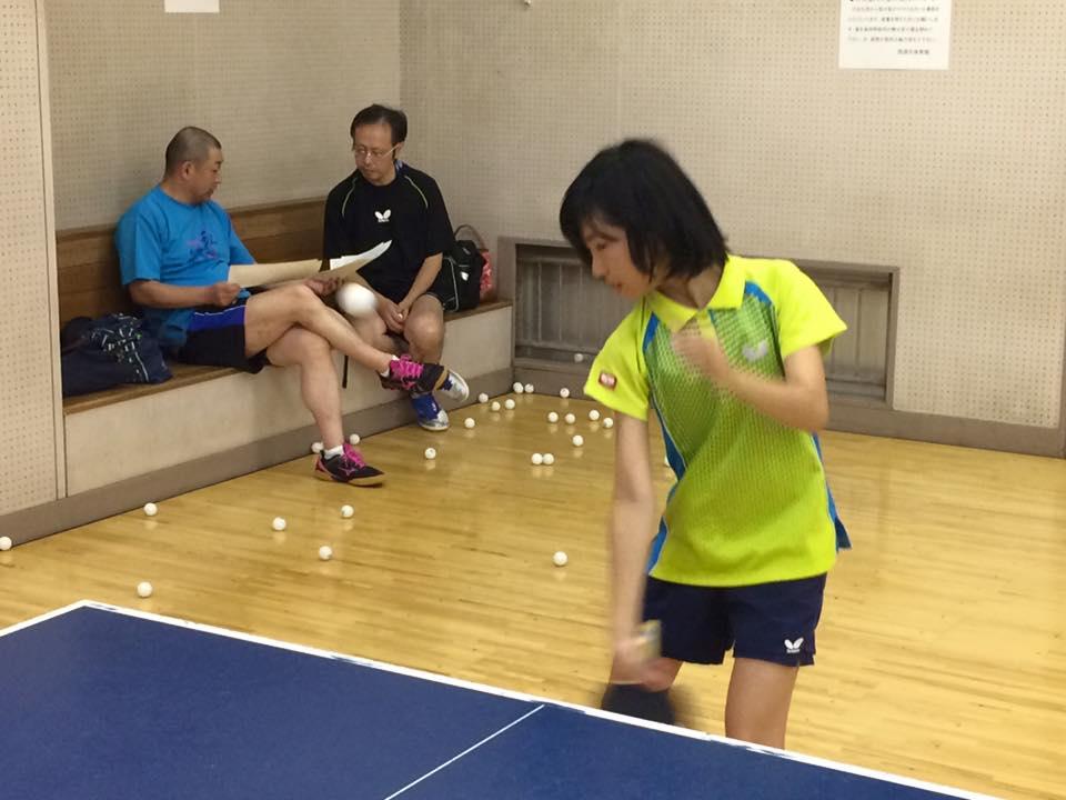 卓球で、子供たちは逞ましくなりました