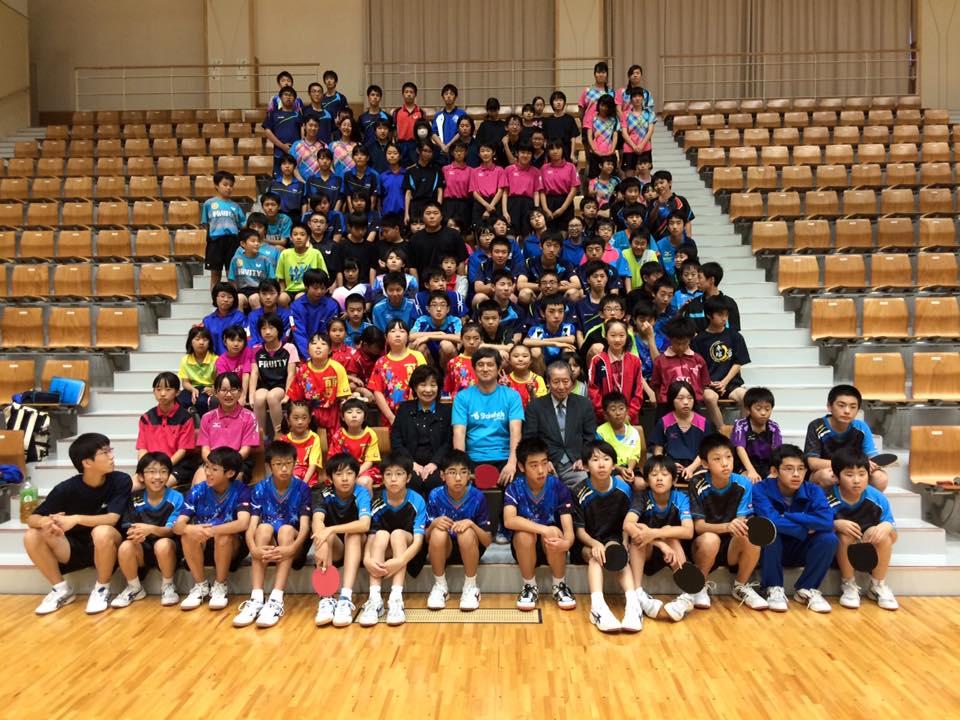 東北の卓球指導者や子供たちからパワーをもらいました