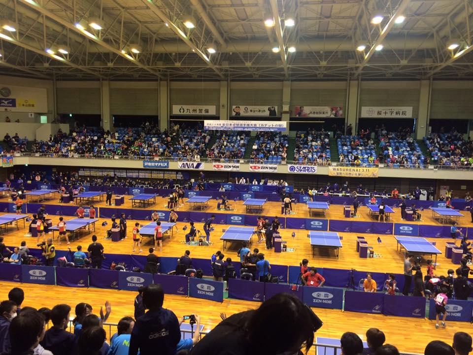 卓球全日本カデット会場に到着