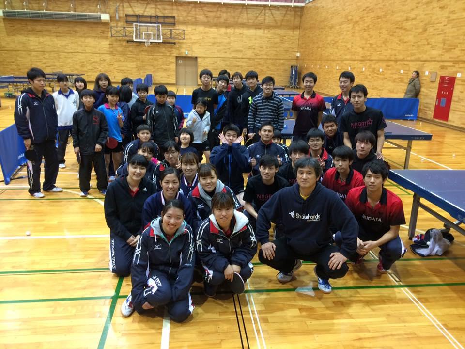 新潟市の卓球連盟主催の講習会2日目