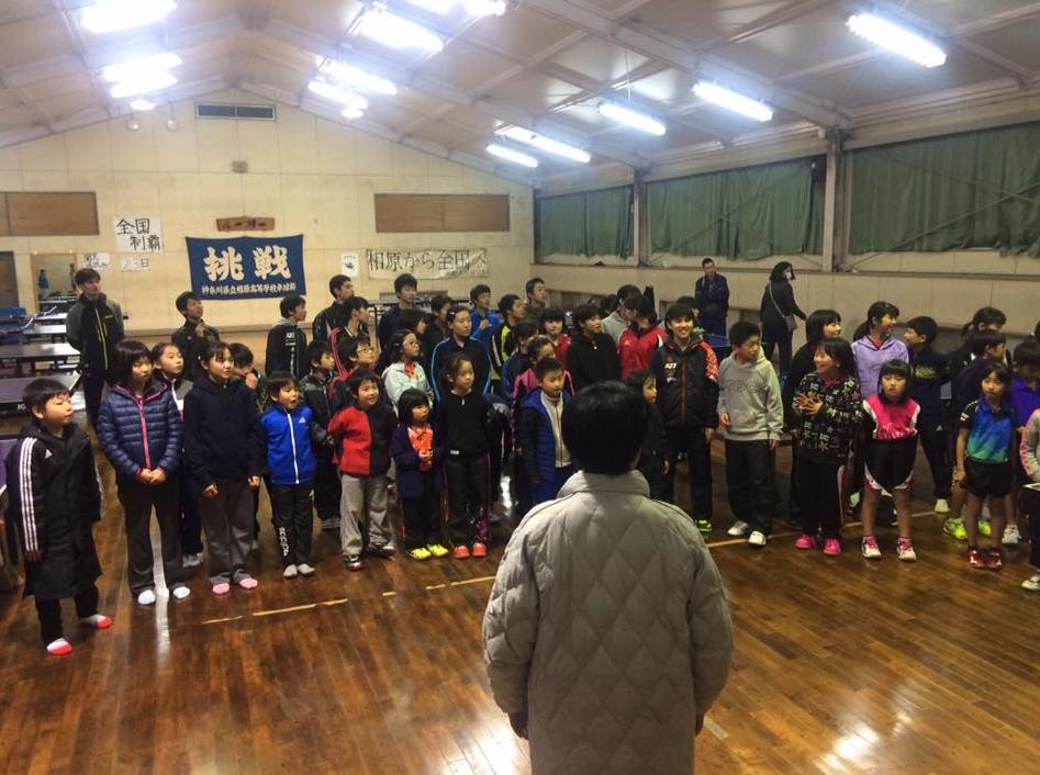 相原高校の練習場で相模原ジュニアと平屋TTCとの合同練習