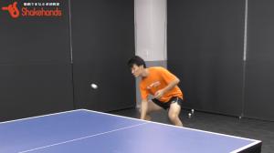 【全日本出場】英田理志の裏フォアカット。手だけで打たない