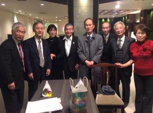 卓球連盟60周年記念パーティーに出席