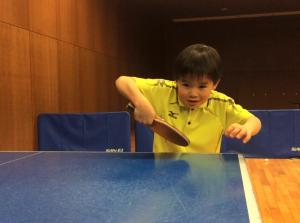卓球の練習後、大変でした
