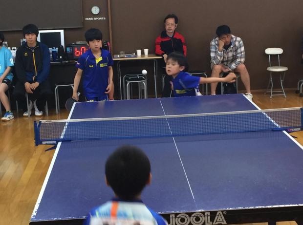 卓球練習の成果を出して良いプレーを見せてくれた