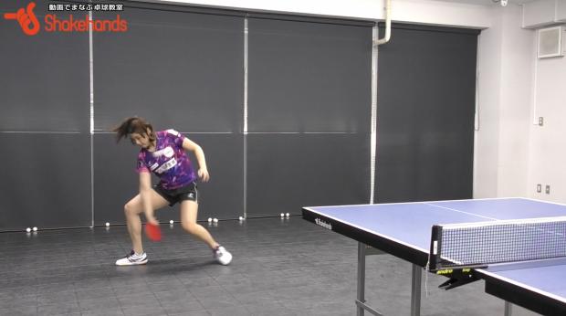 カットマンの多球練習。サイドのボールも取れる! by 石垣優香_表紙