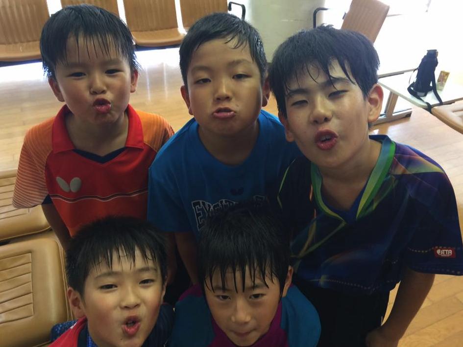 ジュニア卓球練習は【小学生男子の茹でダコ】