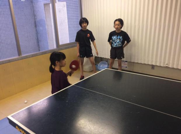 ジュニア卓球練習暑かった…いや熱かった
