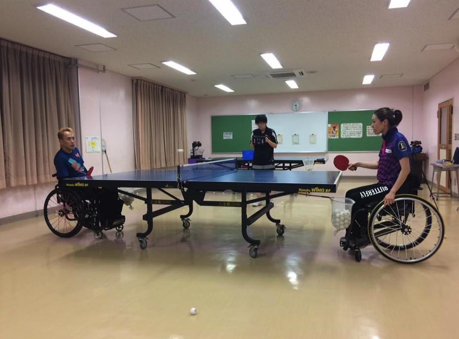 車椅子卓球の理論を構築中・・・