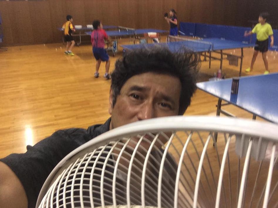 6時間の卓球練習で茹でダコ状態