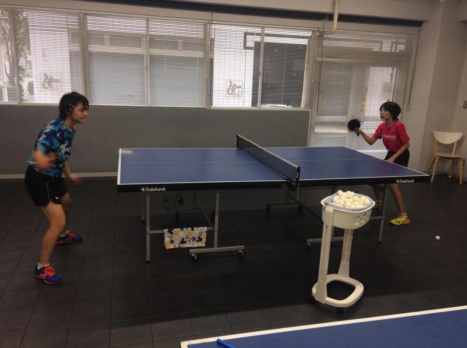 猛烈な勢いで卓球が強くなっています