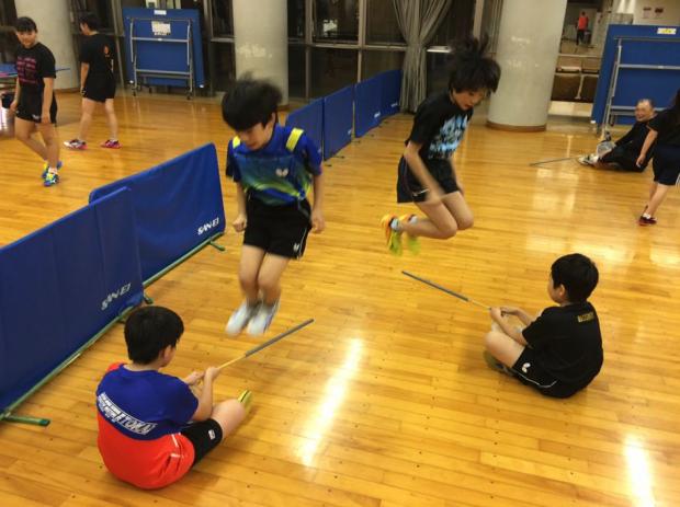 卓球の技術習得と違い、身体能力を高めるには時間が必要