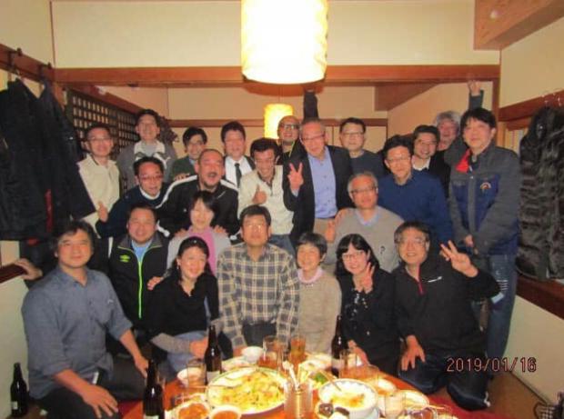 全国の同期の卓球仲間23人懇親会