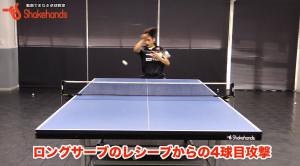 ロングサーブから4球目!4球目を待ちやすいレシーブコースby上田仁