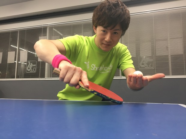 平岡義博の卓球入門。初心者もバックで下回転サーブが出せる!_表紙