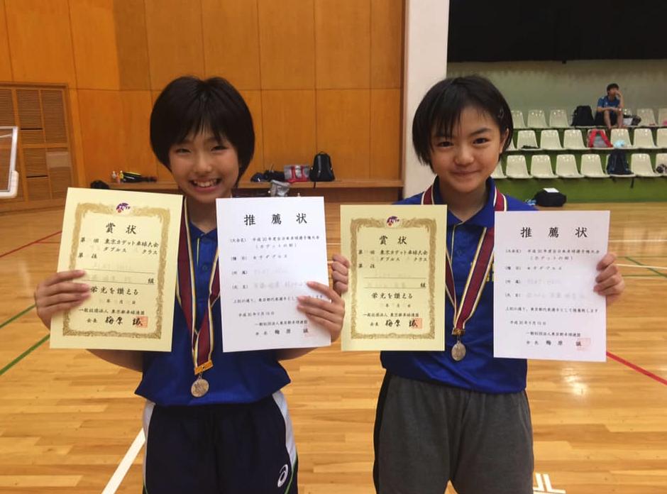 卓球全日本カデットのダブルス東京予選で強豪中学生を連破