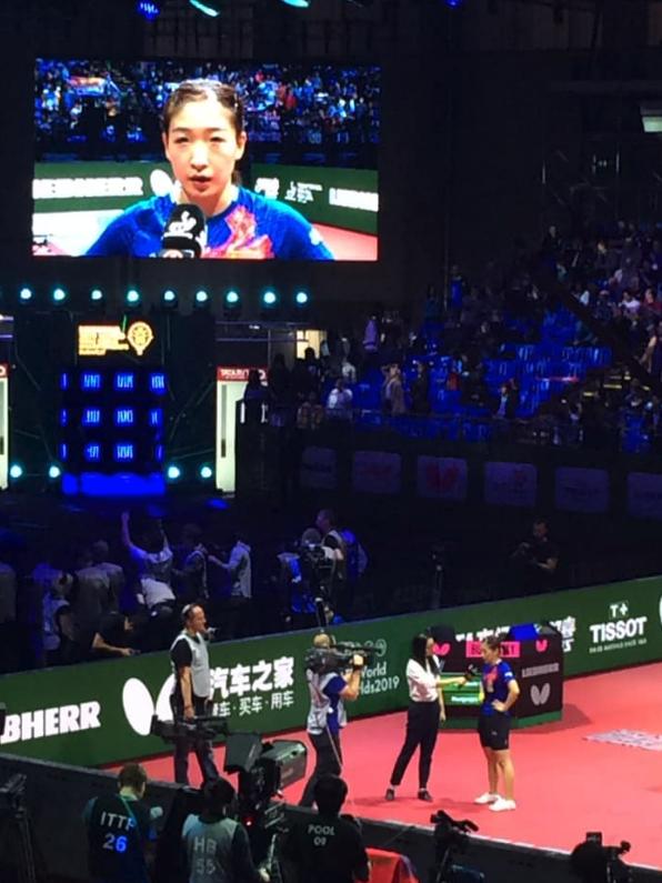 世界卓球、劉詩雯の優勝を待ち焦がれていた