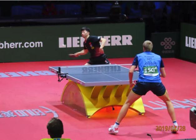 世界卓球ブタペスト大会、スウェーデンのマティアス選手