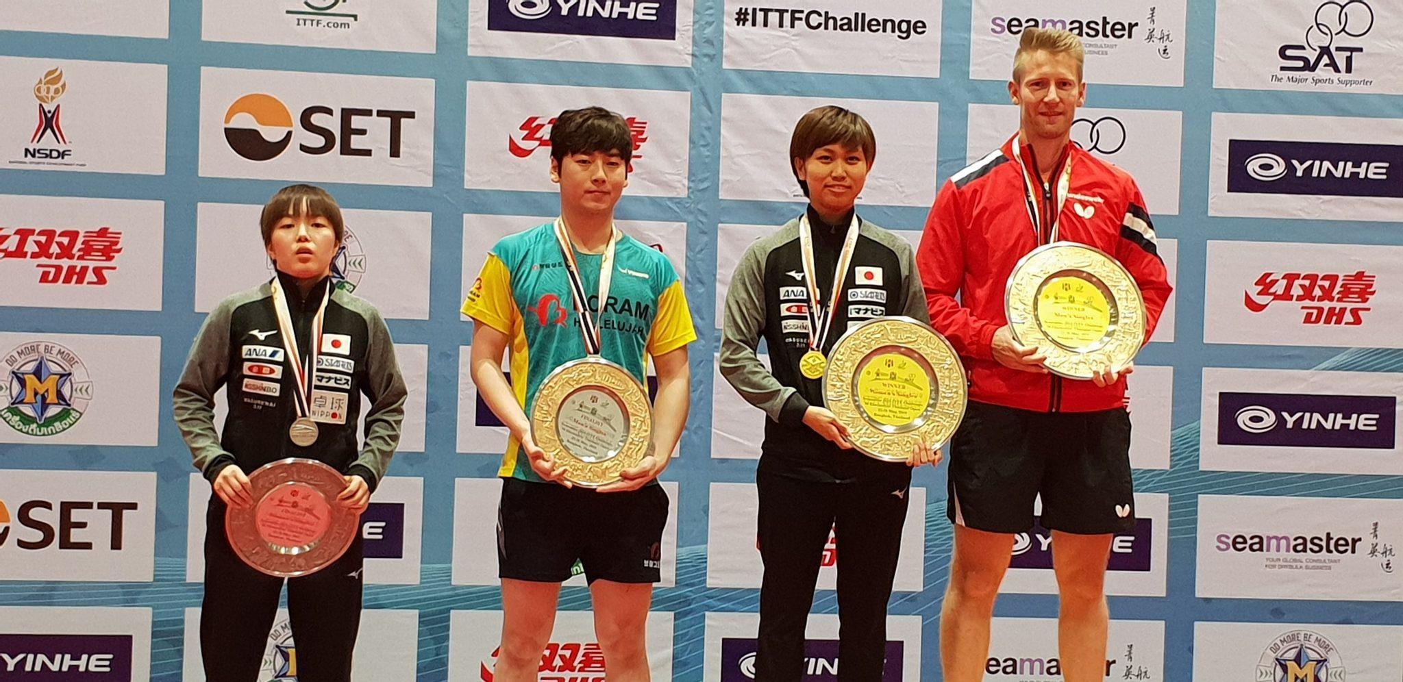 【ITTF ワールドツアー タイオープン】フィルス選手(ドイツ)佐藤瞳選手がシングルスを制す