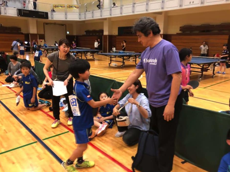 小3の丈瑠くんが卓球大会出場初勝利