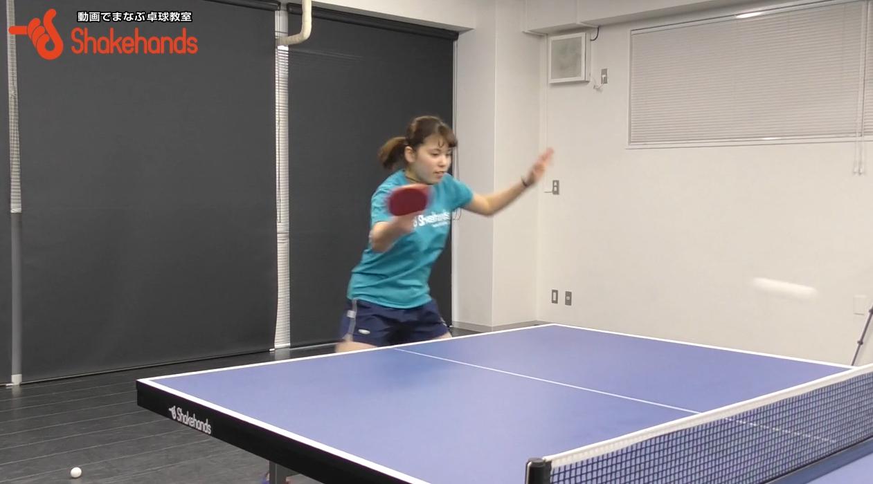 左肘を引く!高速卓球に対応する練習