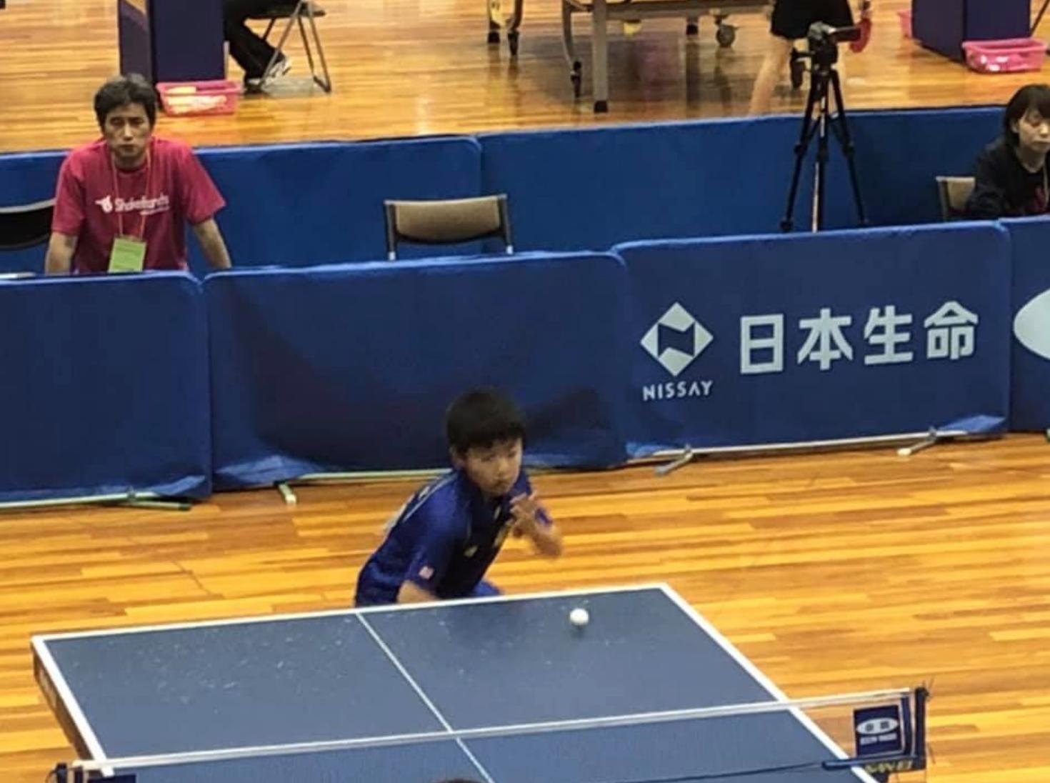 五年生で卓球決勝トーナメント進出は立派