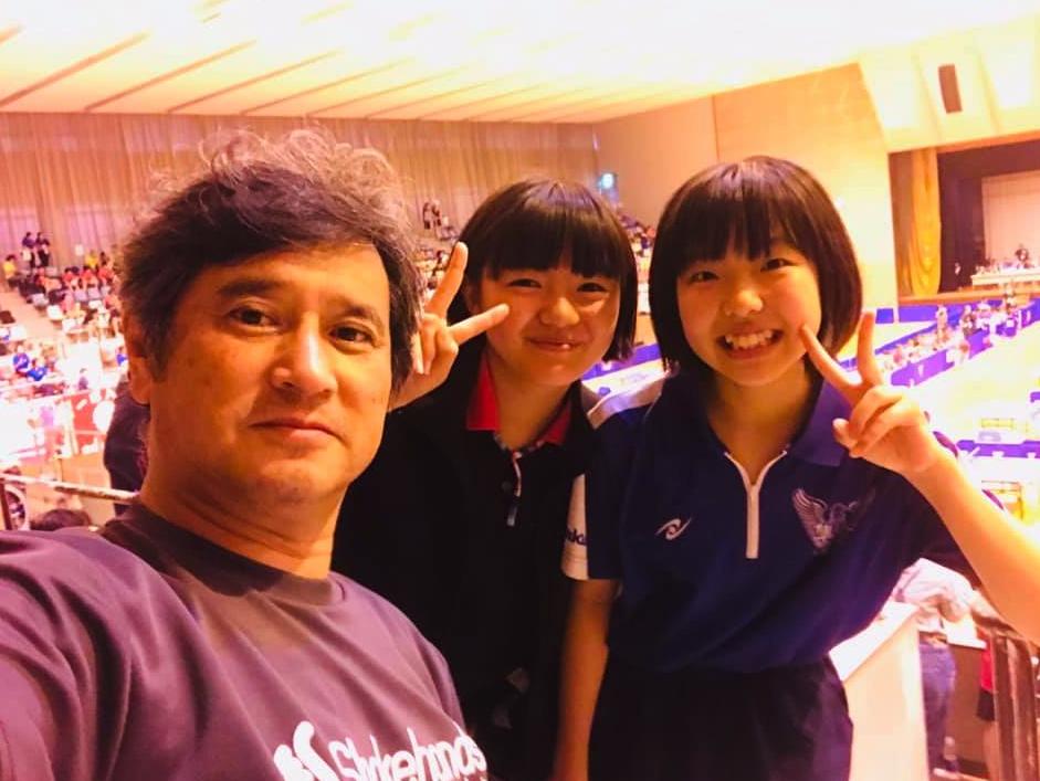 全国中学校卓球大会でひかるちゃんは、予選リーグで2勝